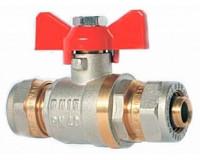 Кран шаровой цанговый для металлопластиковых трубопроводов STI Ду20х20
